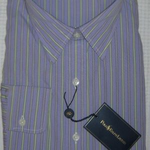 Polo Ralph Lauren Andrew Purple Stripe Dress Shirt